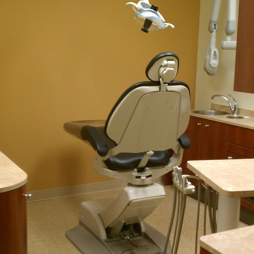 Construction Cleaning at a dental office.