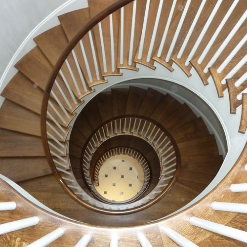 New 4 story staircase in DC townhome complete renovation