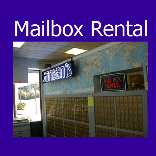 We have private mailboxes for rent.