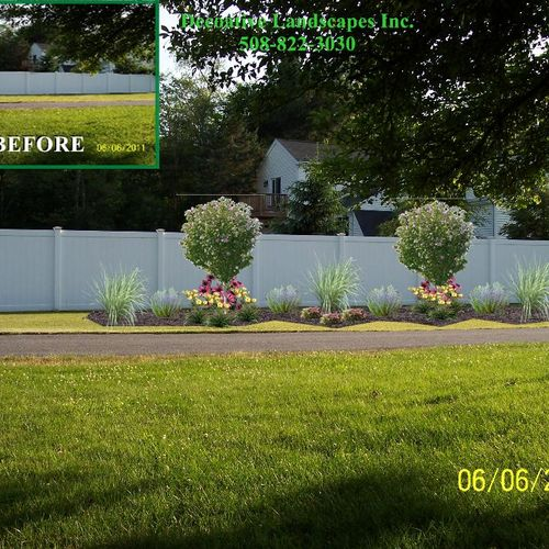"""Residential """" True to Life""""  Island Bed Landscape Design"""