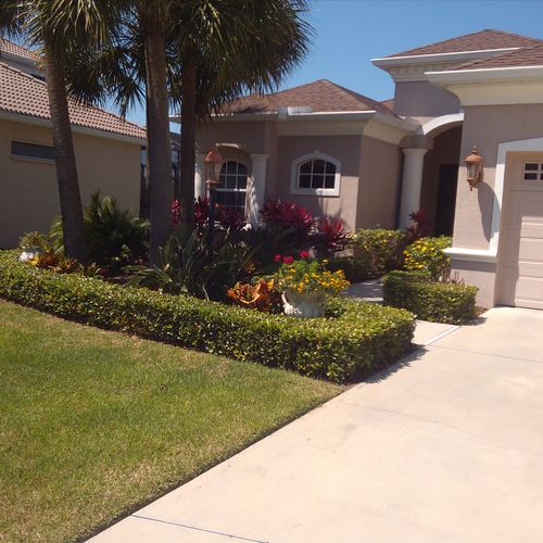 Lawn mowing and landscaping in Bradenton, Florida.