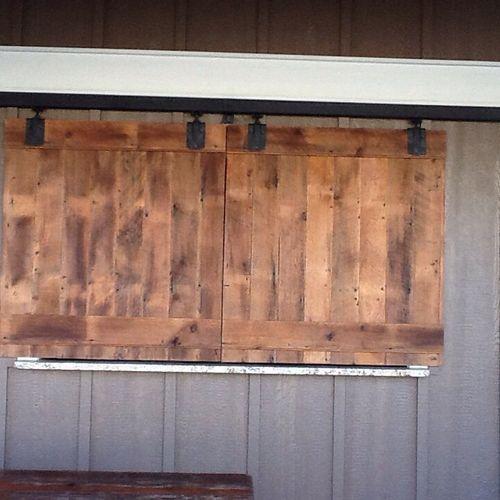 Pool House Barn Doors