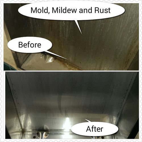 Mold, Mildew and Rust removal