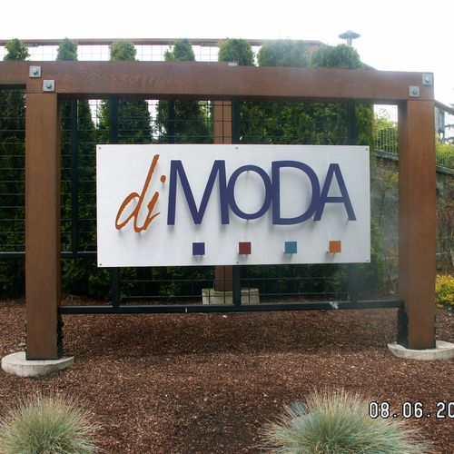 Added New LED lighting to Entry Sign MODA Condo