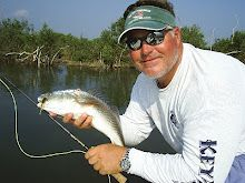 Capt. Troy Fly fishing for Redfish