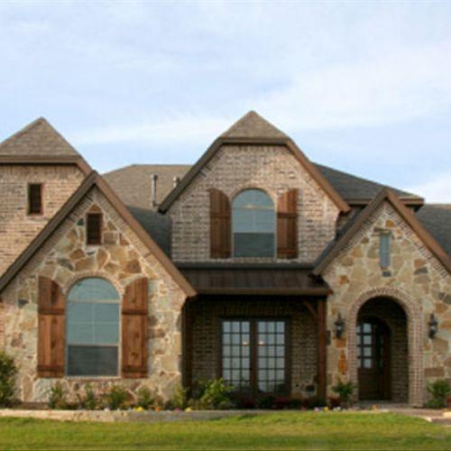 Exterior of custom home design/build.