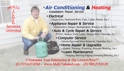 Avatar for Mully Talented - HVAC, Electrical, & Plumbing Charlotte, NC Thumbtack