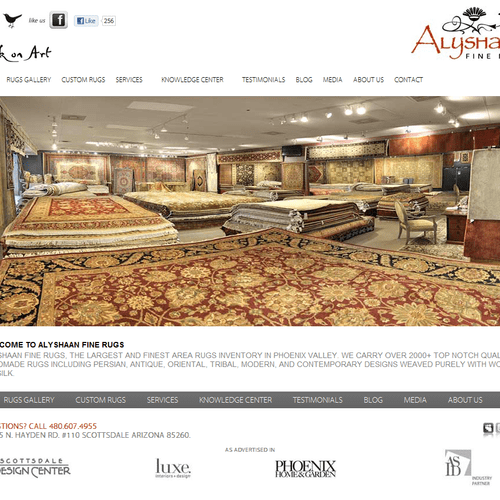 Alyshaan Fine Rugs - website built by Solutions 8