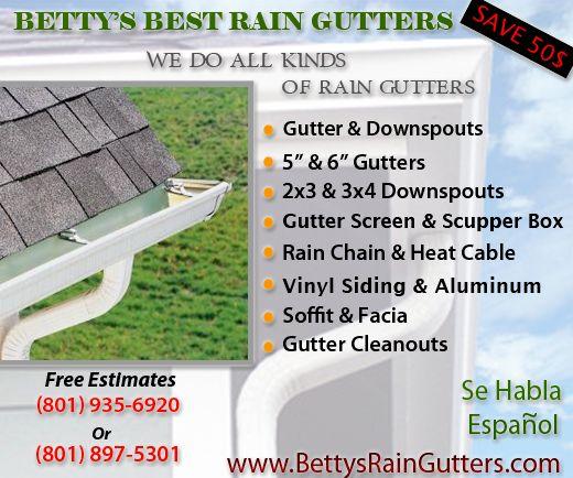 Betty's Best Rain Gutters