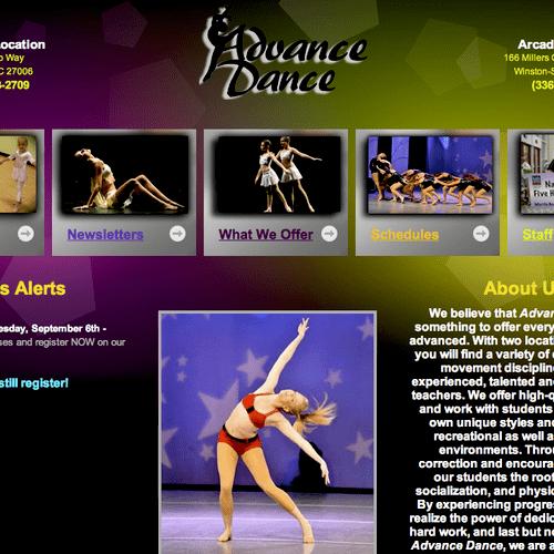 Dance Studio - Advance & Winston-Salem, NC. Visit http://www.advancedancers.com/ to view the full website