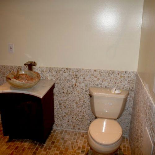 After- basement spa bath conversion