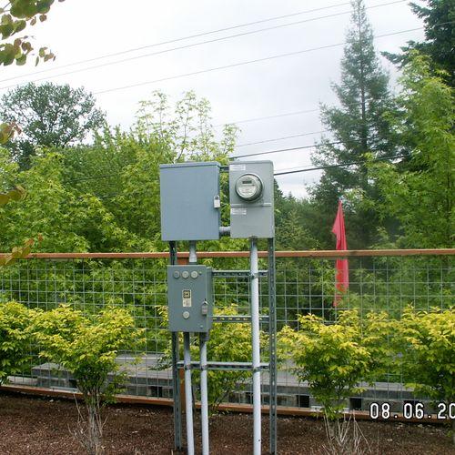 Adding power for sprinkler control Condo