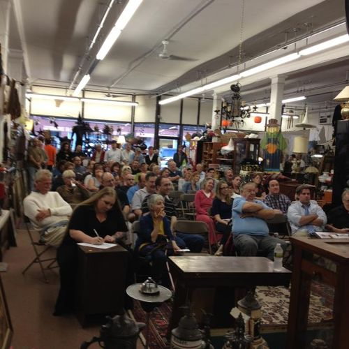 Here is one of the auctions held by Joe Bayles at Witch City Consignment & Thrift, 301 Essex St, Salem, Ma (old Jerrys Army & Navy) we sold ww1 & ww2 items, we sell the best used furniture at auction in the Northshore, vintage jewelry, gold & silver