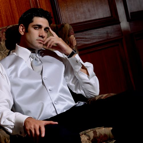 Ad photography for Rome's Tuxedos in Metairie, Louisiana.