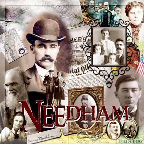 Here is a ReMontage Julie created for my Needham family line.