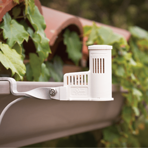 A rain sensor or rain switch is a switching device activated by rain fall and automatically shuts off your sprinkler system when it rains, so you don't have to worry when you're home or away.