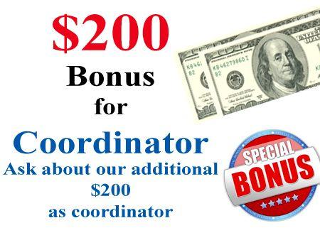 Photography fundraiser coordinator bonus.