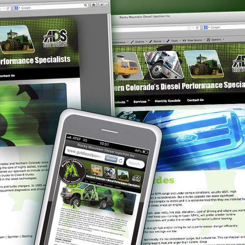 Web site design diesel mechanical firm in Greeley Colorado. Included mobile site design. View site at http://www.gotdieselpower.com/