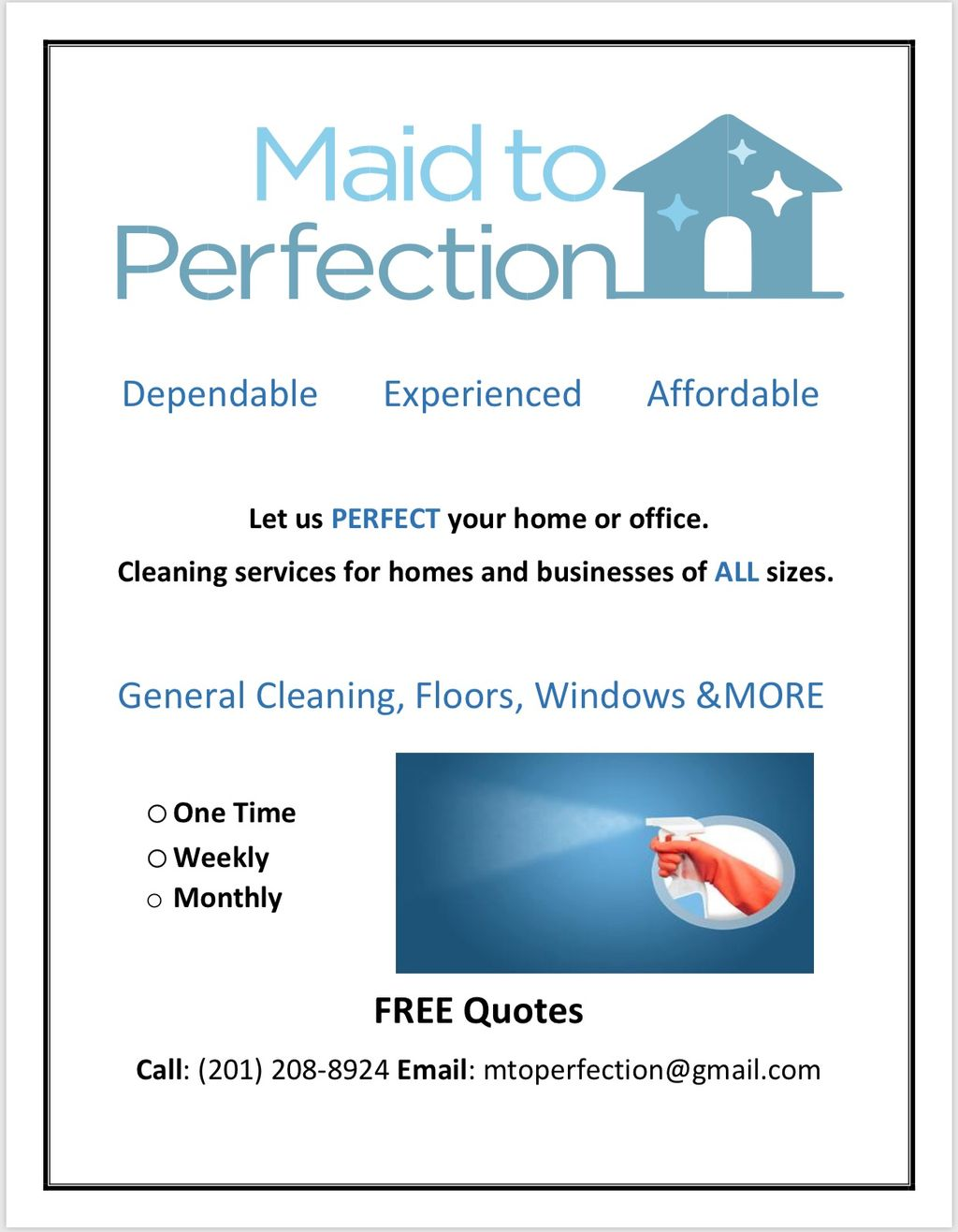 Maid To Perfection & JEP Transport