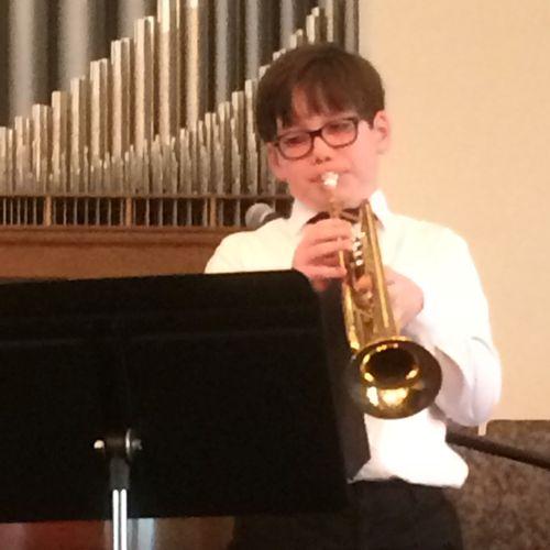 Encore Music Studios Trumpet Student Performing at the 2018 Spring Recitals