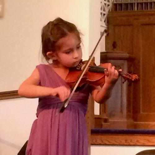 Young Suzuki Violin Student Performing at the 2018 Spring Recitals