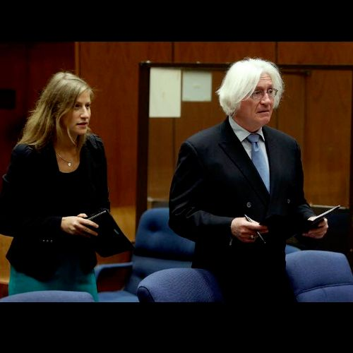 Sharon Appelbaum and Thomas Mesereau in court