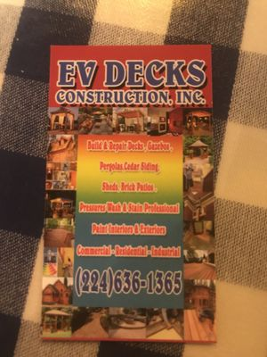 Avatar for Evdecks Construction Palatine, IL Thumbtack