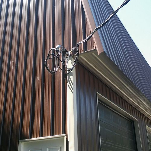 New overhead service install