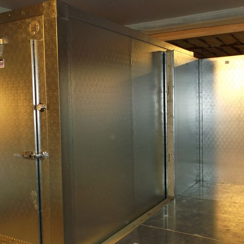 New walk in cooler and freezer at the Kettle Falls food bank