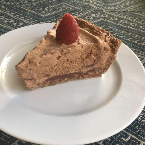 Coconut Chocolate Mousse Pie