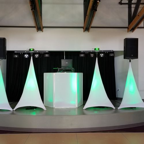 NV Entertainment SetUp: Premium Sound System Package, Snow White Veneer Package, Lighting Effect Package 2 x (4-in-1 Light).