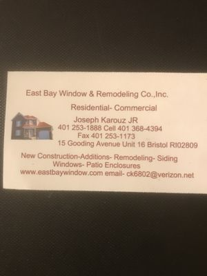 Avatar for East bay window & remodeling co.,inc.
