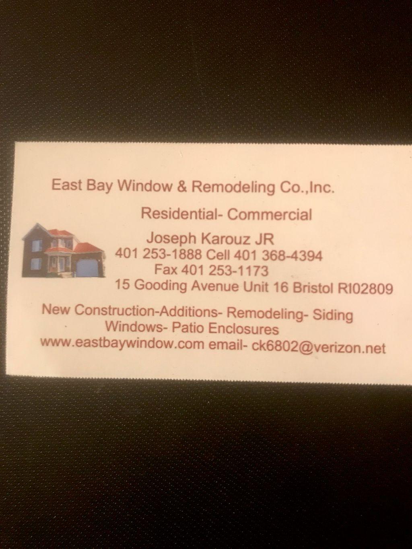 East bay window & remodeling co.,inc.