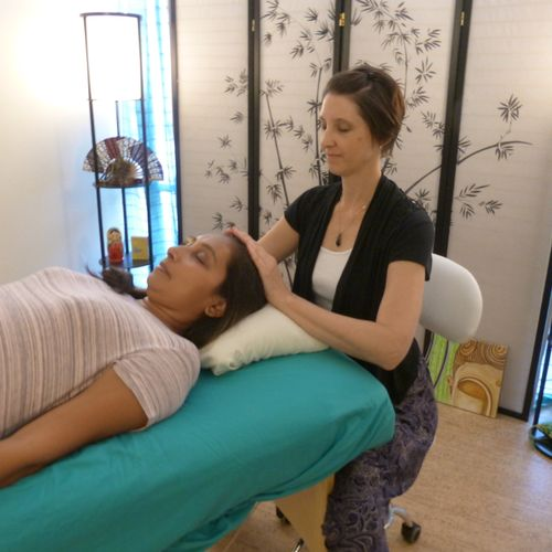 Reiki and breathwork sessions happen here in my Healing Room.