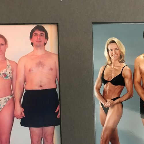 This was our Body For Life Transformation pic.  We were finalists!