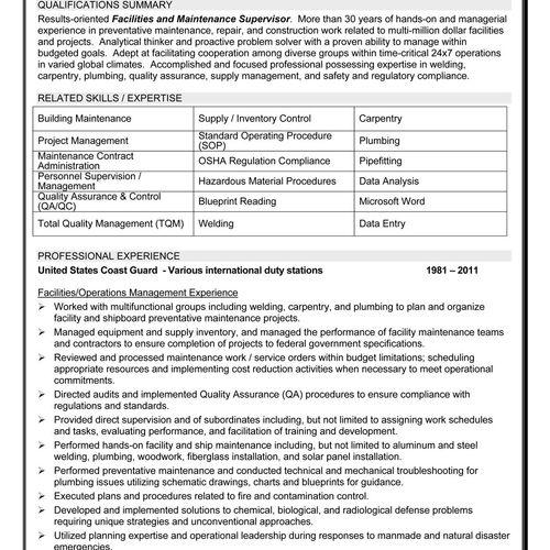Resume Sample 3