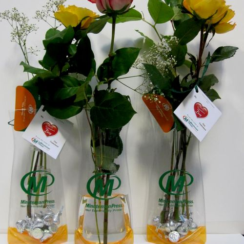 Branded Collapsible Vases we sent to customers on Valentines Day.