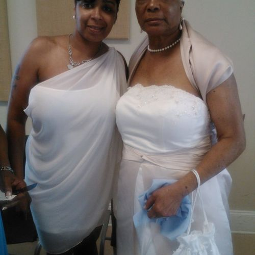 Me and grandma. My favorite wedding of them all.