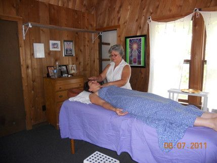 Reiki session. Usually lasts one hour.