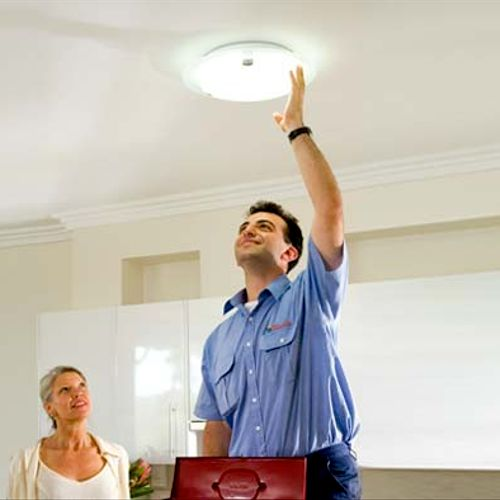 We can help you with replacing light fixtures and ceiling fans.