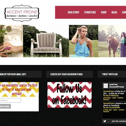 Accent Prone - furniture and fashion store in Kernersville, NC. Visit http://www.accentprone.com/ to view the full website