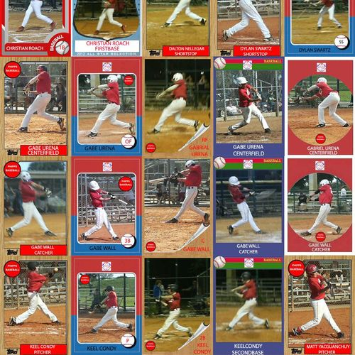 After learning how to hit I make baseball cards of them doing the fundamentals right.