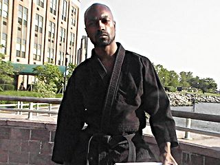 Martial arts at the pier