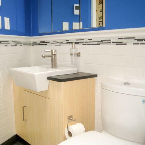 Bathroom tile, elegant ceramic wainscoting