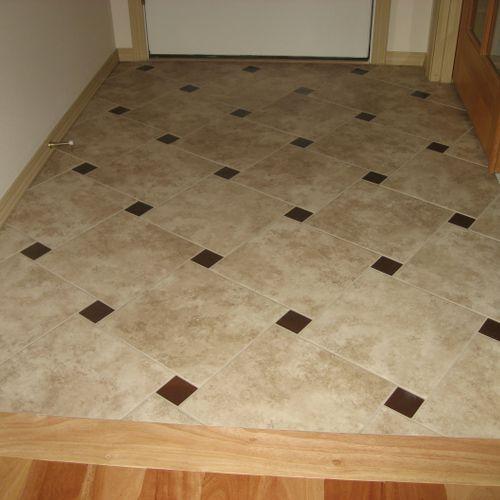 Tile floor, porcelain tile