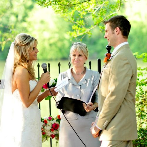 Beautiful wedding by the River