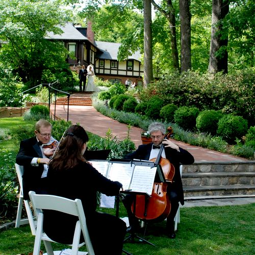 The Antares Musicians performing at the Gramercy Mansion