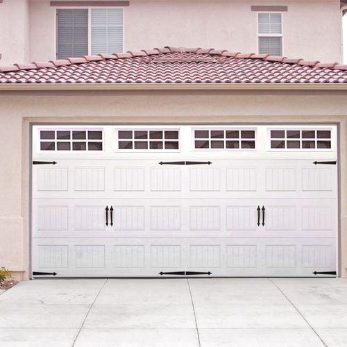 Carriage house doors.