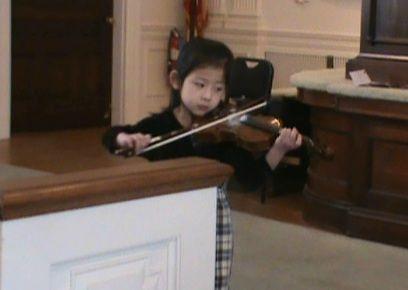 My student Abigail at a recital.