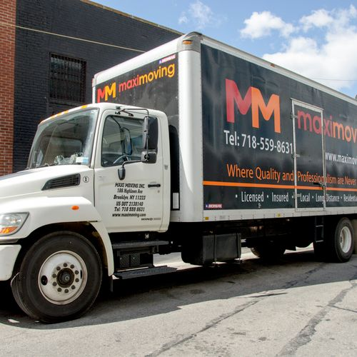 Modern and fully equipped trucks.